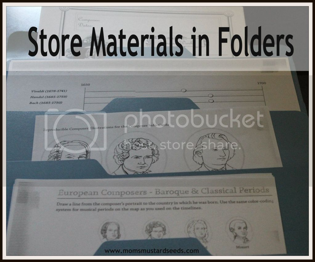 Store Materials In Folders