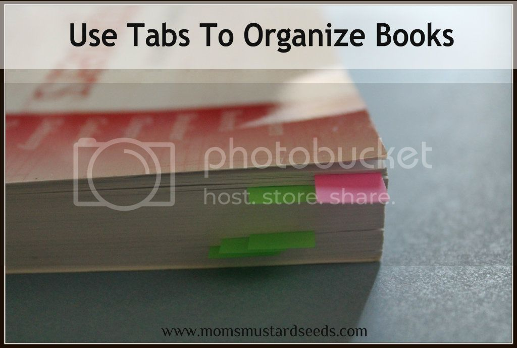 Use Tabs To Organize Your Book